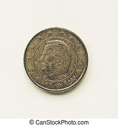 Vintage Belgian 10 cent coin - Vintage looking Currency of...