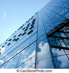 glass facade - Office building with glass facade in Berlin