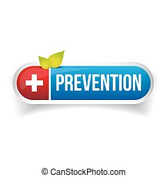 Prevention button vector icon