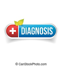 Diagnosis icon button vector