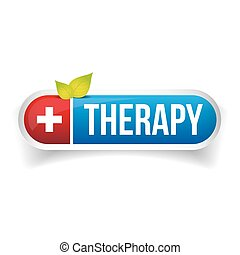 Therapy button vector logo