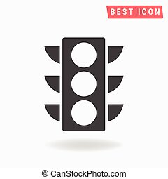 traffic light Icon Vector.