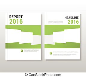 Green modern abstract brochure, flyer, report design, layout template. Clean style cover, cummunication, business. corporate