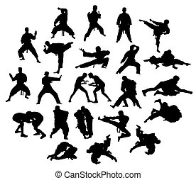 Karate, Judo and Taekwondo Sport - Martial art Sport...