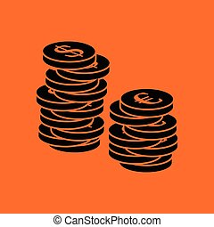 Stack of coins  icon