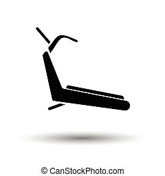 Treadmill icon White background with shadow design Vector...
