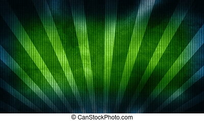 Retro blue green dots and bars loop - Looping retro dots and...