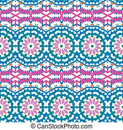 Vector ethnic colorful bohemian pattern in bright colors...