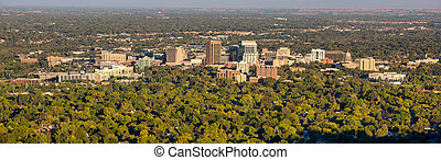 City of trees skyline morning Boise Idaho - Boise Idaho from...