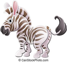 Zebra Animal Cartoon Character