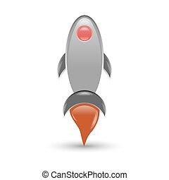 Retro Rocket illustration
