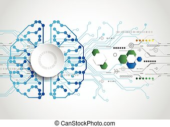 Creative brain concept background. Artificial Intelligence...
