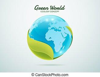 green world - Green earth.Green global.Green world.Green...