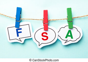 FSA Bubble Word - FSA word bubble paper is hanging on the...