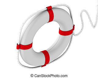 life preserver for first help. 3d
