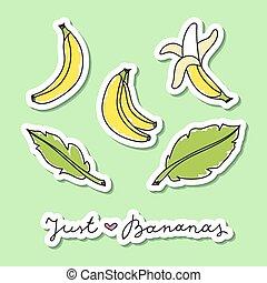 set of bananas - vector set of hand drawn bananas and...