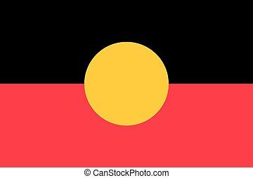 Australian Aboriginal flag correct size, color
