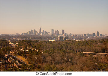 Skyline of Atlanta from Distance - The skyline of Atlanta...