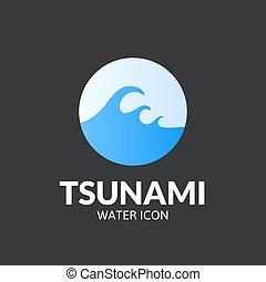 Tsunami logo template - Tsunami logo, vector template design...