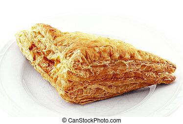 Chicken pie plate on a white