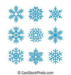 set of vector snowflakes for christmas background