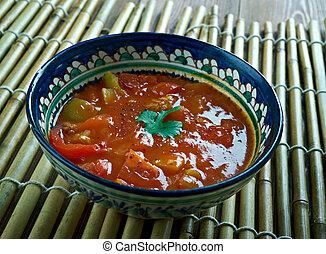 Indian onion tomato sauce - Onion tomato kotsu .Saravana...