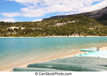Beautiful Lake in Southern France P