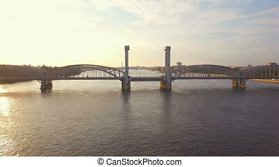Finland Railway Bridge across the Neva River