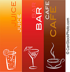 beverage icons; design template , vector illustration