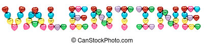 VALENTINE capital letter - Isolated VALENTINE captial letter...