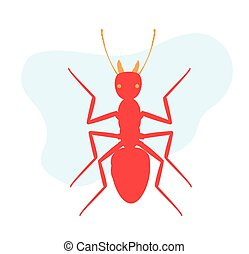 Army Ant Insect Vector Illustration