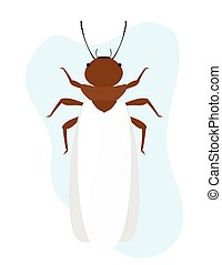 Termite Insect with Wings Vector Illustration