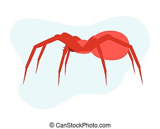 Spider Vector - Creepy Dangerous Spider Insect Vector...