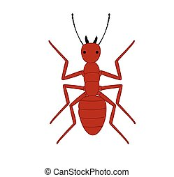 Red Ant Vector Illustration
