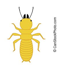 Comic Termite Insect Vector Illustration