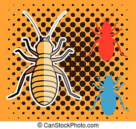 Louse Insects Vector Illustration