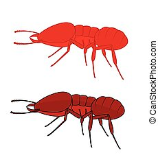 Fire Ants Insects Vector Illustration