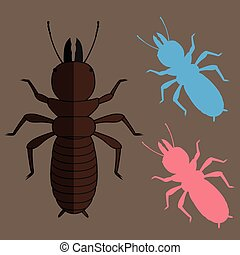 Termite Insects Vector Illustration