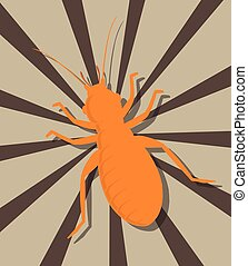 Louse Insect Shape Vector Illustration