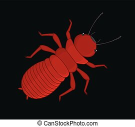 Creepy Termite Insect Vector Illustration