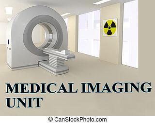 Medical Imaging Unit concept - 3D illustration of MEDICAL...