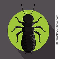 Creepy Termite Vector Illustration