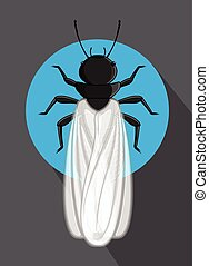 Winged Termite Vector Insect Illustration