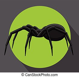 Horrible Spider Vector Illustration