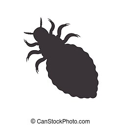 Lice Insect Silhouette Vector Illustration