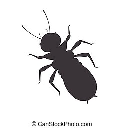 Termite Insect Vector Silhouette Illustration