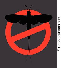 Mayfly Insect Prohibited Vector