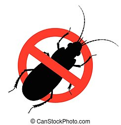 Kill Cockroach Insect Sign Vector Illustration