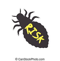 Creepy Lice Insect Shape Vector Illustration