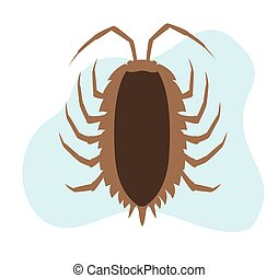 Woodlouse Vector Insect - Comic Woodlouse Vector Insect...